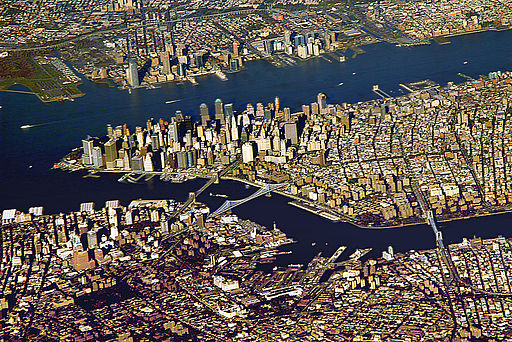 Downtown Manhattan From Aeroplane